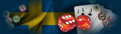 svensk flagga, kortlek tärningar